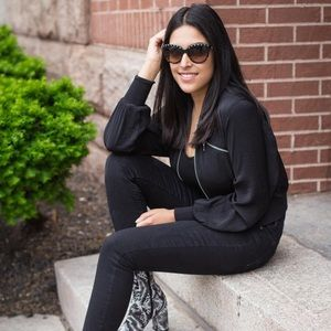 H&M Jackets & Coats - Black zipper bomber jacket NWT